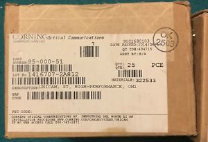 Corning 95 000 51 St Multi Mode Fiber Optic Connector Lot Of 25
