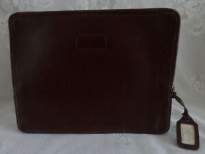 L l Bean Vtg 1940 s Leather Portfolio Briefcase Pouch Envelope Zippered Brown