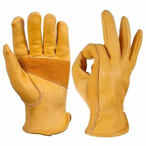 Cowhide Leather Work Glove Safety Protective Garden Warehouse Glove For Labor