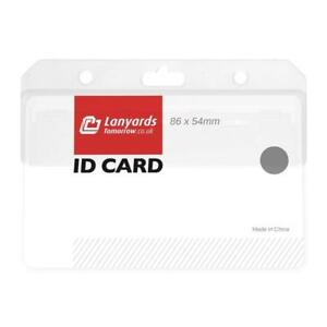 Half Card Horizontal Enclosed Clear Id Security Swipe Badge Landscape Holder Uk