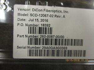Scd 12067 02 Dicon Mems Attenuator Brand New