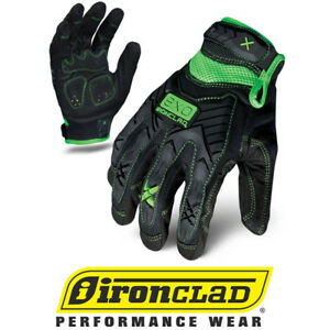 Ironclad Exo2 Garage Junkie Motor Impact Safety Work Gloves 12 Pair Bulk Case