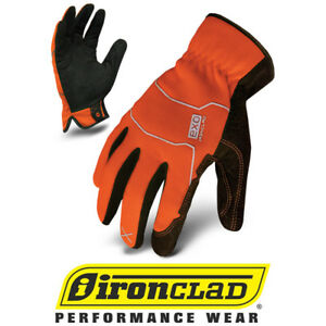 Ironclad Exo2 Hso Hi vis Orange Light Duty Safety Work Gloves 12 Pair Bulk Case