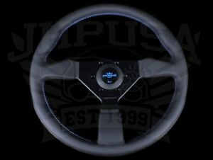 Personal Neo Grinta 350mm Steering Wheel Black Leather Blue Stitch 6430 35 2099