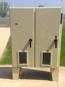 Hoffman Two Door Electrical Enclosure Disconnect Control Cabinet With Windows