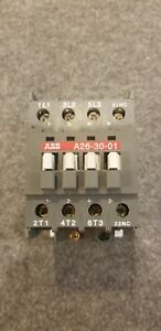Used Abb A26 30 01 3 Pole Contactor 45amp 230 690 Vac 120v Coil