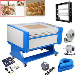 Usb 60w Co2 Laser Cutter Engraving Cutting Machine 700x500mm Rotary Attachment