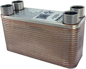 Duda Energy Hx1240 f34 B3 12a 40 Plate Stainless Steel Heat Exchanger With 3 4