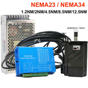Nema23 Nema34 Closed loop Stepper Motor 1 2nm 12 5nm Hybrid Servo Driver Cnc Kit