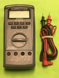 Blue Point Snap on Mtind683a Digital Multimeter With Test Leads And Cover
