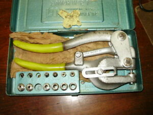 Roper Whitney No 5 Jr Hand Punch Set Complete With Wrench And Stop