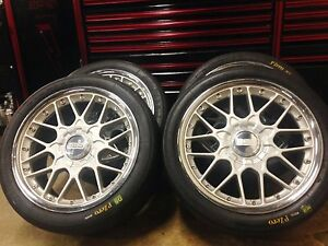 18 Bbs Wheels With Pirelli Racing Slicks