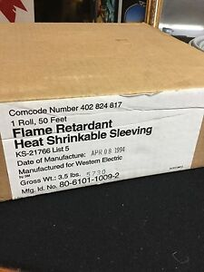 Flame Retardant Heat Shrinkable Sleeving Western Electric By 3m
