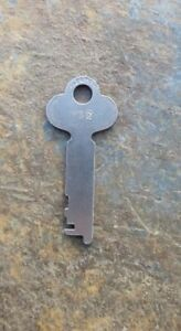 Original Antique Steamer Trunk Key Yale Towne Y52 Flat Steel Trunk Key Y 52