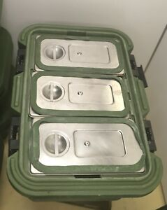 Cambro Upcs180 Food Carrier With Stainless Inserts And Seals Mfg 7360014198500