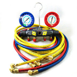 Yellow Jacket 46048 Brute Ii Test Charge Manifold f c Liquid Gauge
