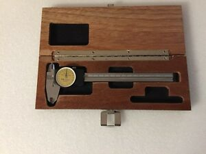 Brown And Sharpe Mm Dial Caliper 15 Mm With Wood Case