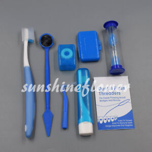 Orthodontic Hygiene Oral Clean Tools Teeth Brush Whitening Floss Interdental Kit