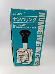 Vintage Numbering Machine Lion Automatic C 71 With Original Box