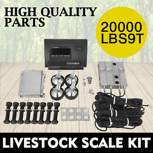 20000lbs Livestock Scale Kit For Animals Junction Box Indicator Animal Weighing