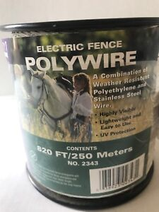 Electric Fence Wire Polywire Spool White Dare 820 Ft New Ships Fast