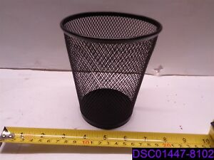 Qty 11 Black Steel Mesh Pen pencil Desk Organizer 5 1 2 Tall