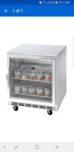 Beverage Air Ucf27ahc 25 27 Undercounter Reach in Freezer With Glass Door