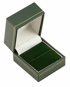 Jewellery Wholesale Ring Boxes 100 X Green Leatherette Ring Gift Jewellers Boxes