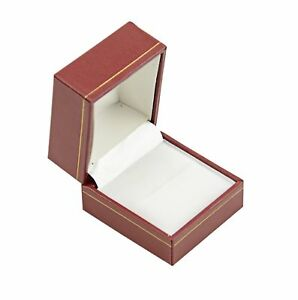 Jewellers Wholesale Ring Boxes 100 Red Leatherette Jewellery Ring Gift Boxes