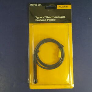 New Fluke 80pk 3a Type K Thermocouple Surface Probe