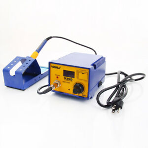 Yihua 939d 110v Rework Electric Smd Esd Soldering Iron Station Kit Blue