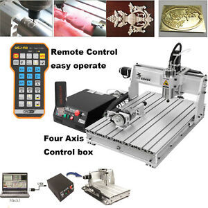 4 Axis 6040 Usb 1 5kw Cnc Router Engraving Milling Machine 110v Remote Control