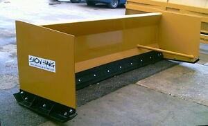 12 Snow Hawg Snow Pusher For Backhoe Combo Machine