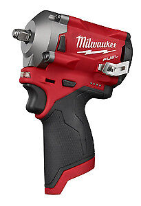 Milwaukee Electric Tool 2554 20 M12 Fuel Stubby 3 8 Impact Wrench Bare Tool