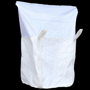 Fibc Bulk Bag 2204 Lbs Swl Duffle Top Flat Bottom Woven Polypropylene Bags