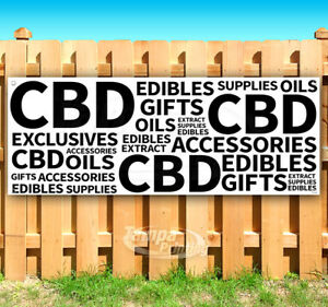 Cbd Oils Gifts Advertising Vinyl Banner Flag Sign Many Sizes Smoke Shop