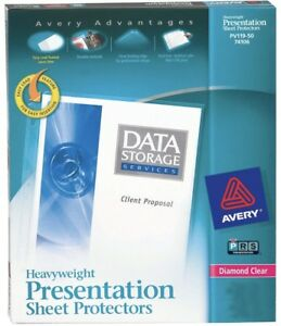 Box Of 200 Avery Diamond Clear Page Size Sheet Protectors Acid Free 74400 Sh3