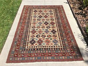 Authentic Vintage Caucasian Shirvan Tribal Chi Chi Chichi Rug 4 X 6
