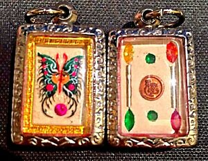 Real Kruba Krissana Green Dream Butterfly Amulet And Metta Wax Set 75 Value