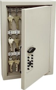 Supra 1795 Push Button Key Cabinet 8 11 In W X 3 19 In D X 12 04 In H 16 Ga