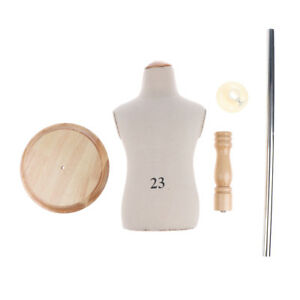 Kids Cloth Mannequin Torso Display Dress Form Model W Wood Round Base Stand
