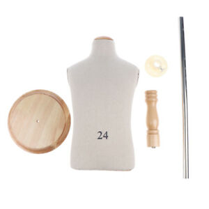 Kids Cloth Mannequin Torso Display Model W Wooden Round Base Stand Moveable