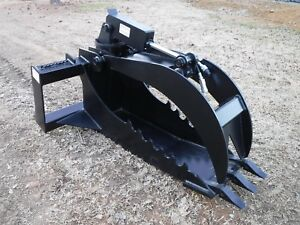 Bobcat Skid Steer Extreme Duty Stump Bucket Grapple Attachment Ship 149