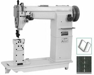 Double needles Post Bed Lockstitch Sewing Machine industrial Sewing Machine