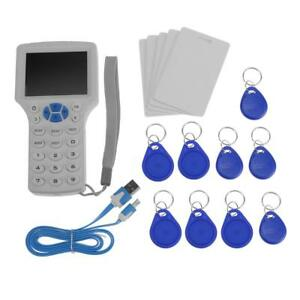 9 Frequency Id Ic Card Reader Writer Handheld Copier Duplicator With Cards Best