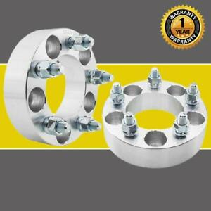 2 1 5 37mm Wheel Spacers 5x4 5 82 5mm Cb Adapters For Jeep Ford Mustang