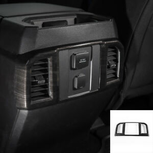 Black Wood Grain Rear Air Conditioning Outlet Vent Frame Cover For Ford F150 15