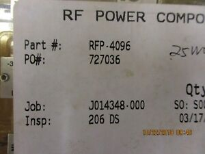 Rfp 4096 Rf Power Components Rf Power Module Brand New