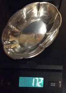 Gorham Sterling Silver 43312 Nut Candy Dish Oval Bowl 5 529 Ounces Gc