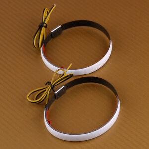 2x Motorcycle Drl Switchback Flowing Led Strip Amber Turn Signal Light Universal